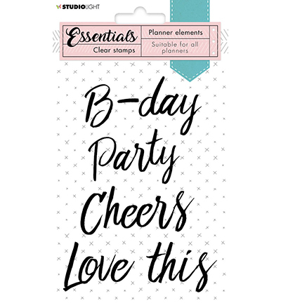 Studio Light - Essentials Planner Collectie - Clearstamp - Text party - nr 08