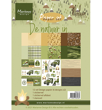 Marianne Design - Paperpad A4 - De natuur in by Marleen