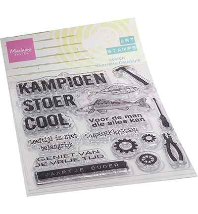 Marianne Design - Clearstamp - Art Stamp - Kampioen