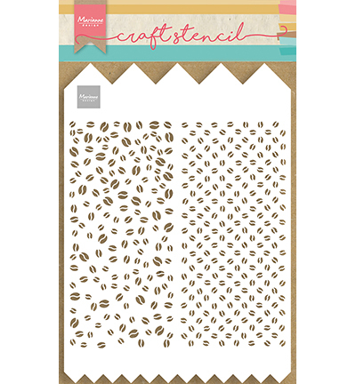 Marianne Design - Craft Stencil - Slimline A4 Coffee Beans