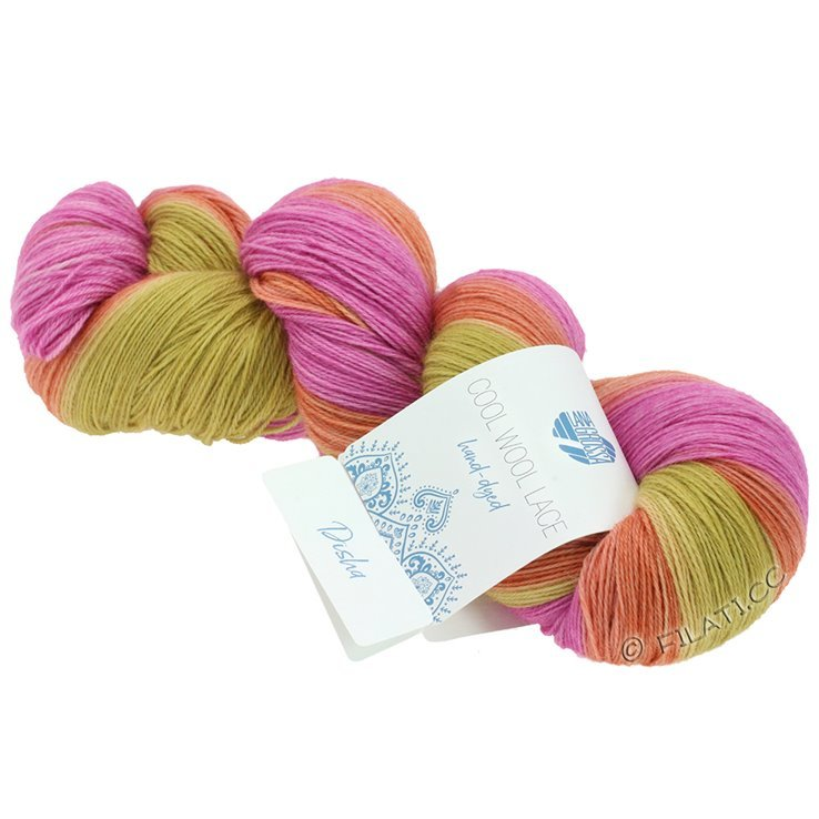 Breiwol Lana Grossa - Cool Wool Lace Hand-Dyed - 801-Disha