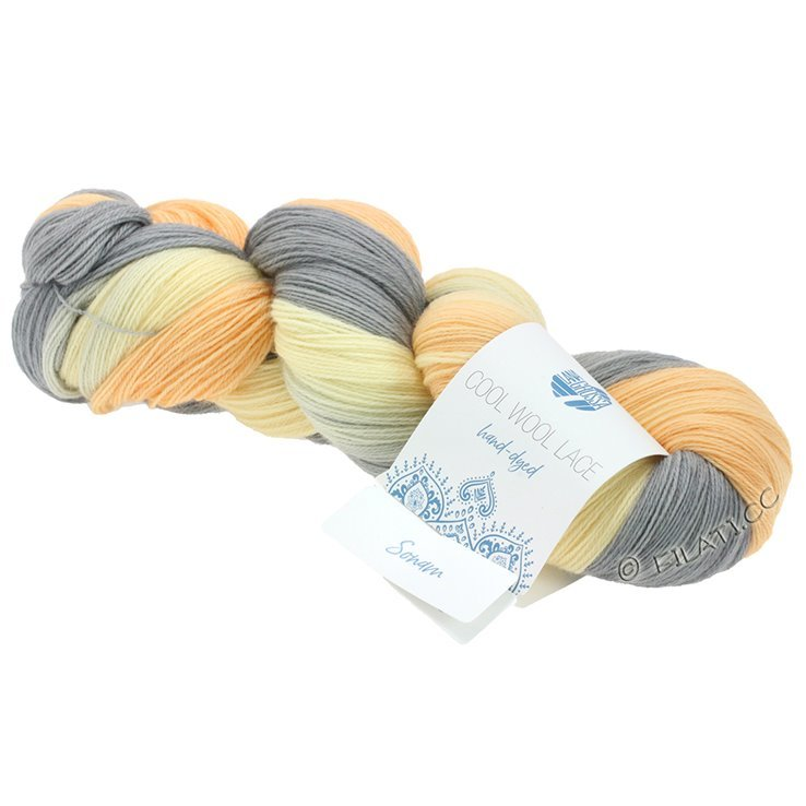 Breiwol Lana Grossa - Cool Wool Lace Hand-Dyed - 804-Sonam