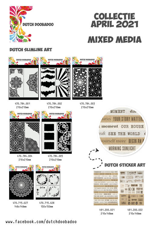 Dutch Doobadoo - MIXED MEDIA COLLECTIE APRIL - COMPLEET