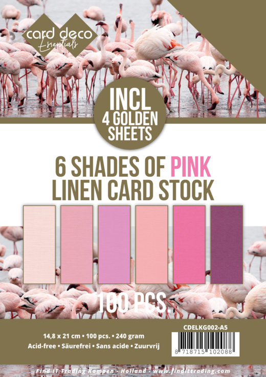 Linnenkarton - Card Deco - 6 Shades of Pink - A5