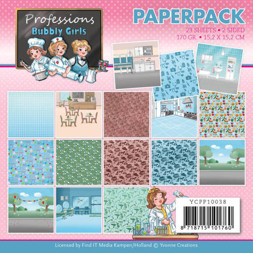 Paperpad - Yvonne Creations - Bubbly Girls - Professions