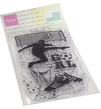 Marianne Design - Clearstamp - Art Stamp - Soccer