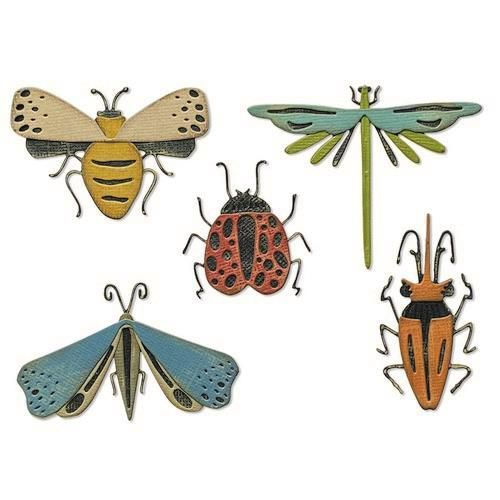 Sizzix - Tim Holtz - Thinlits Die Set - Funky Insects