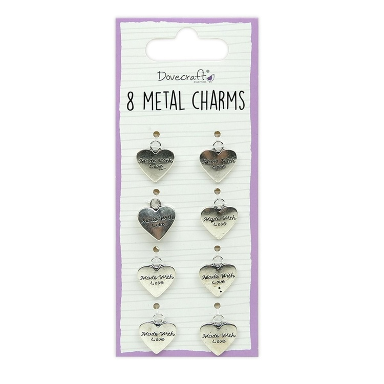 Dovecraft - Metal Charms Silver - 8 stuks