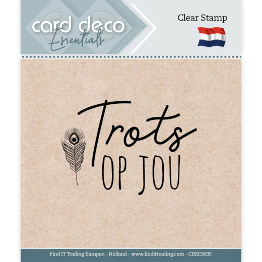 Card Deco Essentials - Clear Stamps - Trots op jou