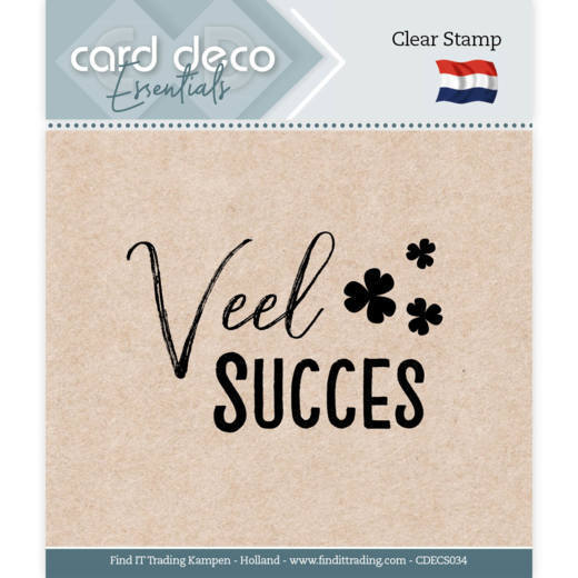 Card Deco Essentials - Clear Stamps - Veel Succes