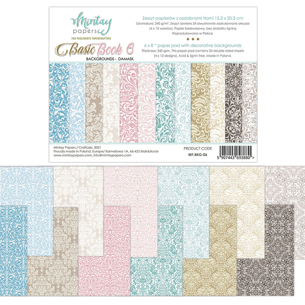 Paperpad Mintay Papers - Basic Book 5 - 15.2 x 20.3 cm - MT-BKG-06