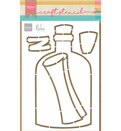 Marianne Design - Craft Stencil - Message in a bottle by Marleen