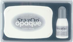 Stazon Opaque kit - Cotton White