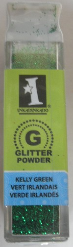 Inkadinkado Glitter Powder - Kelly Green