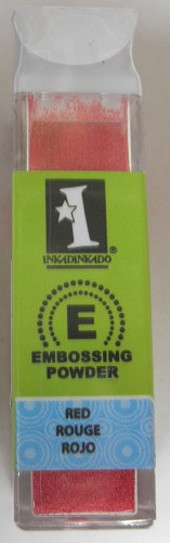 Inkadinkado Embossing Powder - Red