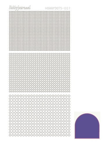 Hobbydots sticker - Mirror - Purple - serie 7