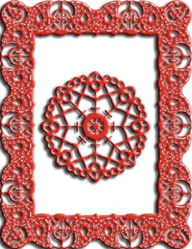 Cheery Lynn Designs - Celtic Fire Rectangle Frame