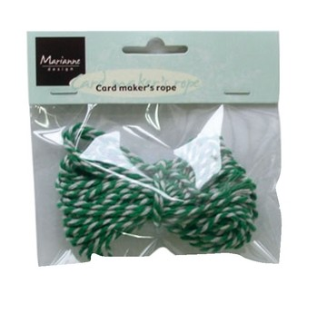 MD Flower ribbons - Rope green/white