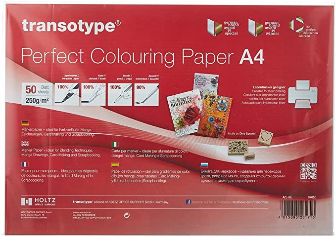 Copic papier - Perfect Colouring Paper A4