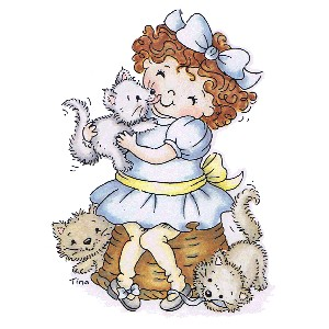 Stampavie stamp - Tina Wenke - Alaina with Kittens
