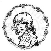 MD Cling Stamps Vintage - Flower girl