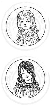 MD Cling Stamps Vintage - Girls
