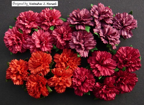 WOC Flowers - Mixed Red Carnation Flowers - 25mm