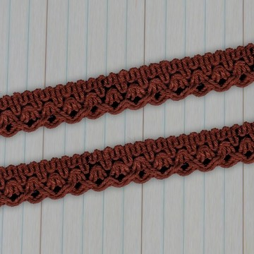 Maya Road - Crochet Trim - brown