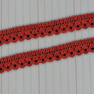 Maya Road - Crochet Trim - orange