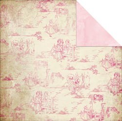 Scrappapier Glitz Design - Pretty in Pink - Toile