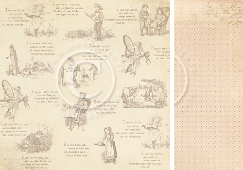 Scrappapier PION Design - Grandma`s School book - Summer play