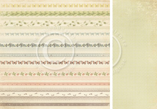 Scrappapier PION Design - Grandma`s School book - Borders