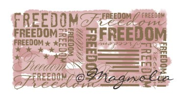 Magnolia Special Stamp - Freedom Background