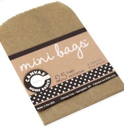 "Canvas Corp - Mini Gift Bags 2.5""X4"" 25/Pkg"