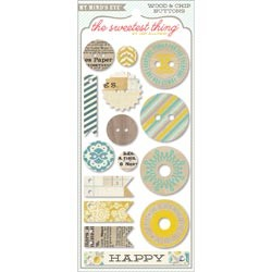 My Minds Eye - The Sweetest Thing - Bluebell Button Card