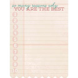 My Mind`s Eye - The Sweetest Thing - Lavender Cardstock Journaling Card