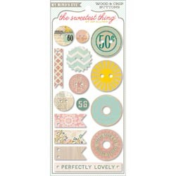 My Mind`s Eye - The Sweetest Thing - Lavender Button Card