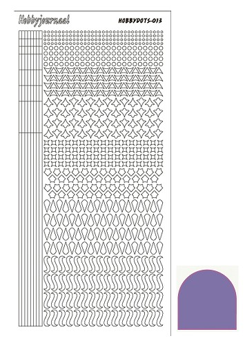 Hobbydots sticker - Mirror - Purple - serie 13