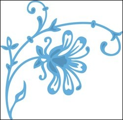 Creatables stencil Tiny`s Flower 1