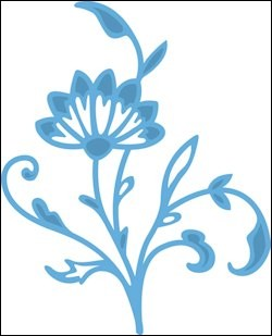 Creatables stencil Tiny`s Flower 3