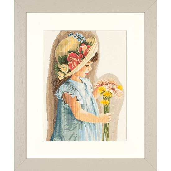 lanarte - romance collection - Girl with the flowered hat Linnen