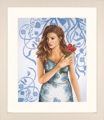 lanarte - romance collection - Lady in Blue Aida