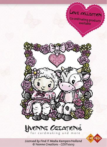 Yvonne Creations - Stamps - Valentine - Happy Couple