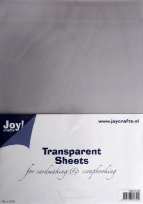 Joy! Crafts - Transparante sheets A4 (mica)
