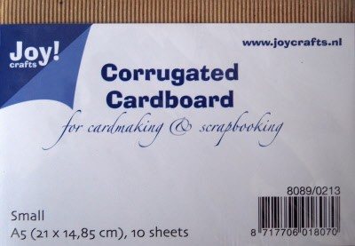 Joy! Crafts - Corrugated (Ribbel) Cardboard A5 - Fijn