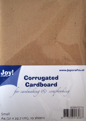 Joy! Crafts - Corrugated (Ribbel) Cardboard A4 - Fijn