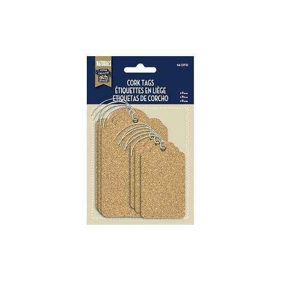 Little Yellow Bicycle - Naturals Cork Tags