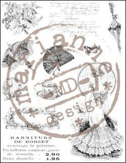 MD Clear Stamp - Victorian Ladies 2