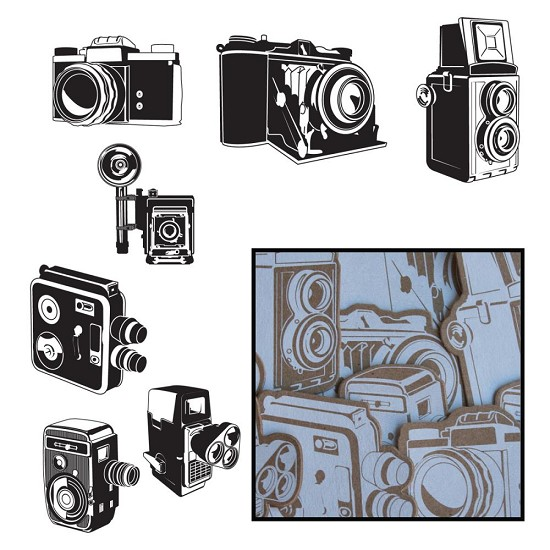 Maya Road - Kraft Die-Cuts - Say Cheese Cameras