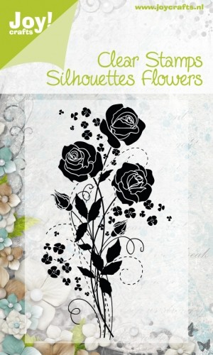 Joy! Crafts - Clearstamp - Silhouettes Flowers nr 1